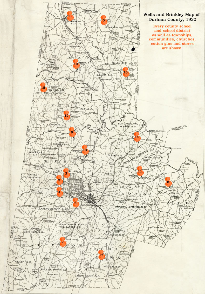 Map Of The Schools The Women Who Ran The Schools The North - County map of north carolina