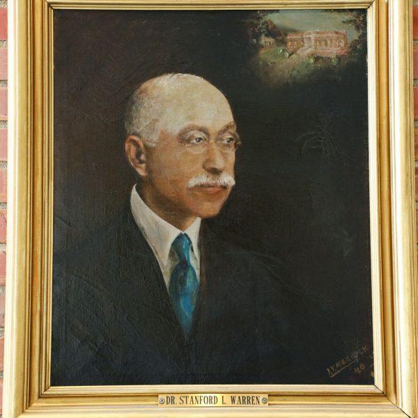Painted portrait of Dr. Stanford L. Warren