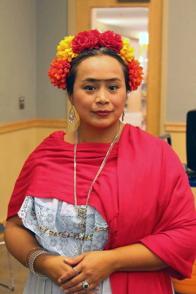 Ms. Patty in costume as Frida Kahlo